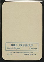 1969 Topps Supers #18 Bill Freehan Detroit Tigers - Back