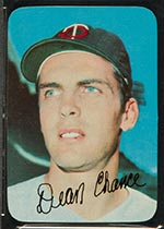 1969 Topps Supers #21 Dean Chance Minnesota Twins - Front