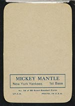 1969 Topps Supers #24 Mickey Mantle New York Yankees - Back