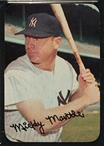 1969 Topps Supers #24 Mickey Mantle New York Yankees - Front