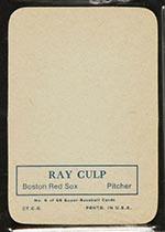 1969 Topps Supers #6 Ray Culp Boston Red Sox - Back