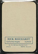 1969 Topps Supers #8 Rick Reichardt California Angels - Back