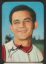1969 Topps Supers #9 Vic Davalillo California Angels - Front